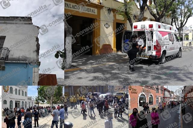 Municipios de Puebla registran saldo blanco tras sismo