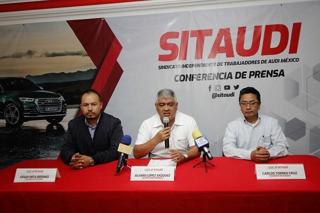 Sindicato negociará sueldo si paro en Audi llega al 30 de mayo