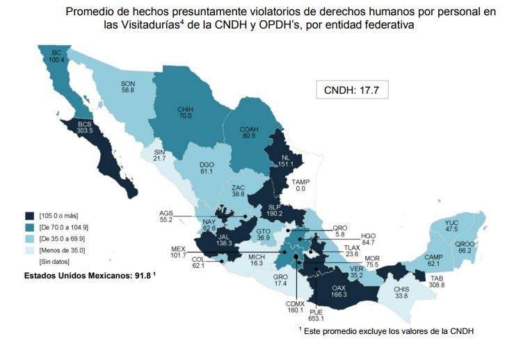 Miles de quejas por violaciones a derechos humanos en México