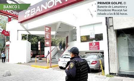 Ladrón roba dos bancos ...en 15 minutos