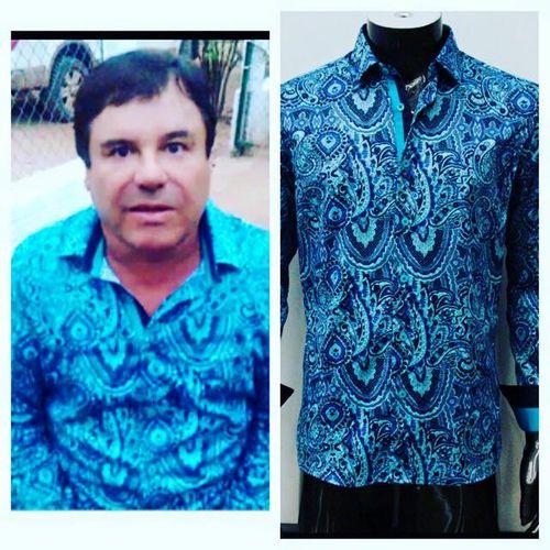 Con el mismo precio la marca norteamericana ofrece una copia idéntica de la  camisa azul con filigranas que el capo utilizó durante el video que  extiende la ... 9636c62e131