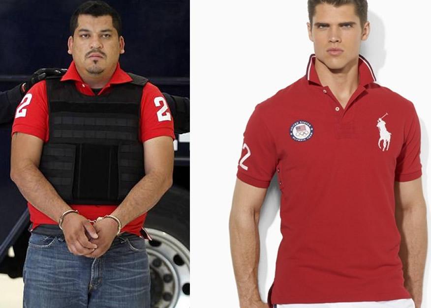 Parece que las playeras Polo de marca Ralph Lauren marcaron toda una  tendencia en los delincuentes mexicanos pues el presunto líder de Los Zetas  en Oaxaca ... cac834469f47c