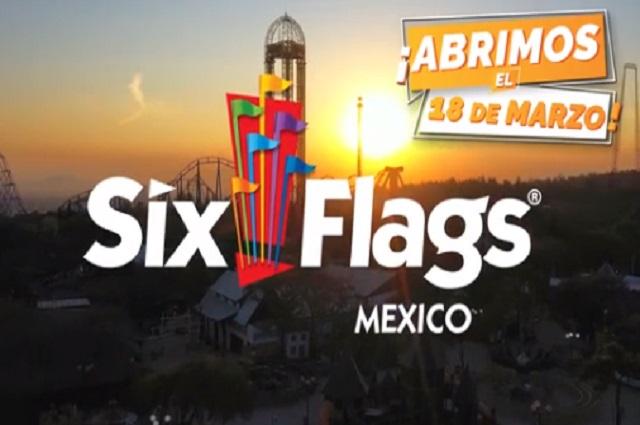 Six Flags anuncia reapertura este 18 de marzo en CDMX