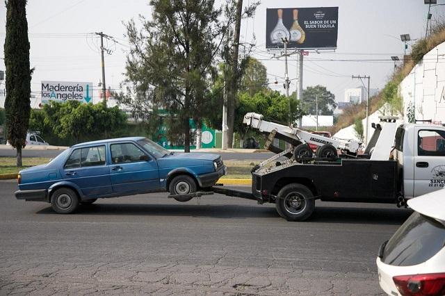 Aseguran 430 vehículos por no respetar el Hoy No Circula en Puebla