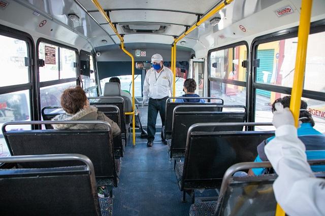 Infraccionan a 166 unidades del transporte público por sobrecupo