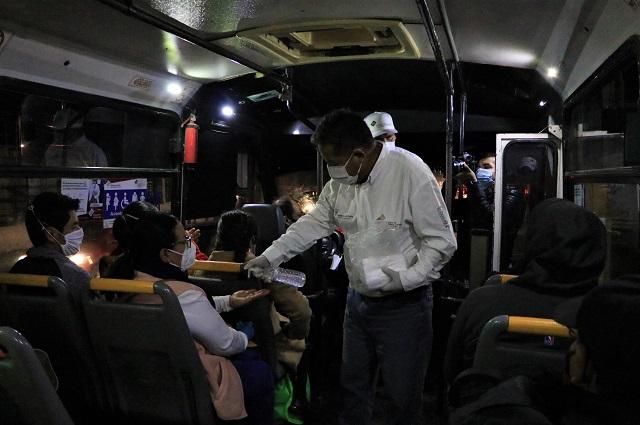 Revisan más de mil unidades de transporte el 6 de enero en Puebla