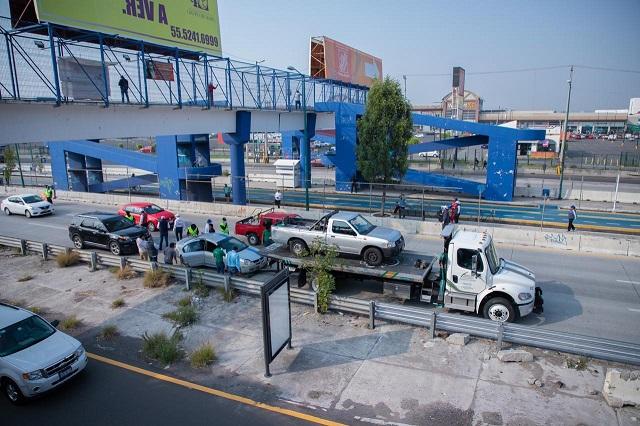 Aseguran 43 vehículos en tercer día del Hoy no circula en Puebla