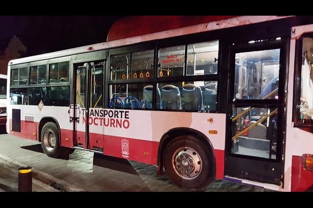 Suspenden temporalmente el transporte público nocturno