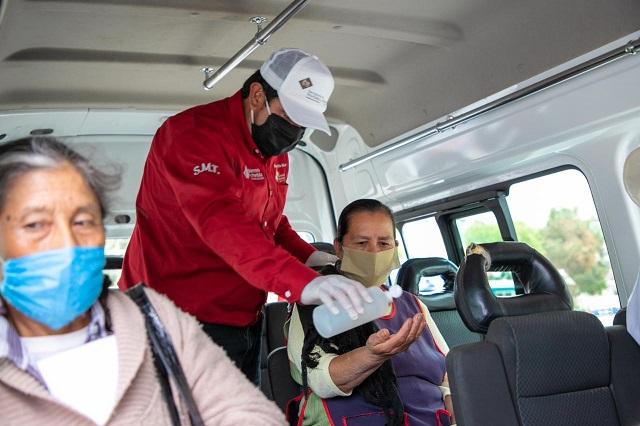 Aplica SMT operativo sana distancia en Tetela de Ocampo