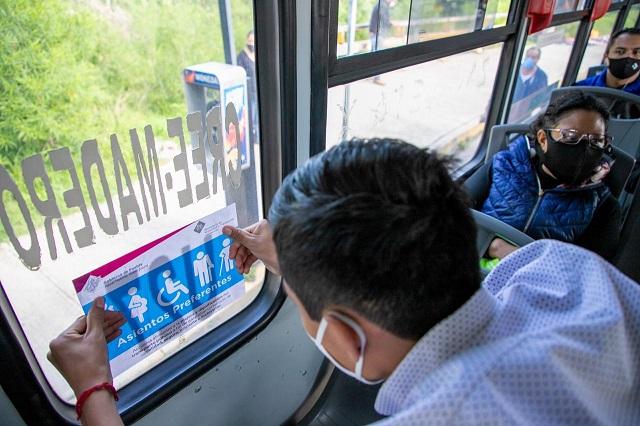 Supervisa SMT colocación de asientos preferenciales en transporte público