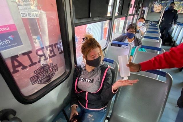 Siguen operativos de sana distancia en transporte público