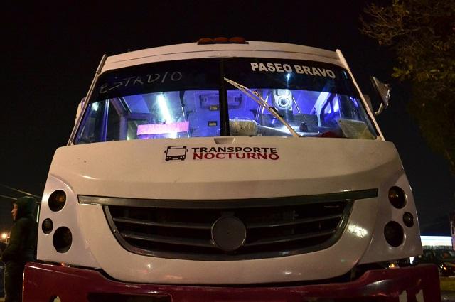 Mantendrán transporte público nocturno en Puebla capital
