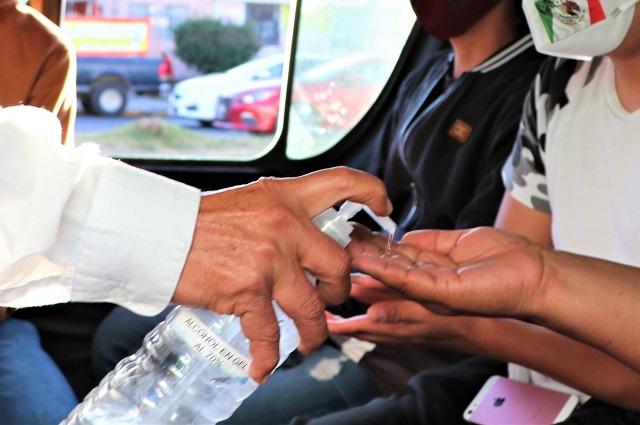 Operativos en el transporte público de Puebla por el Buen Fin