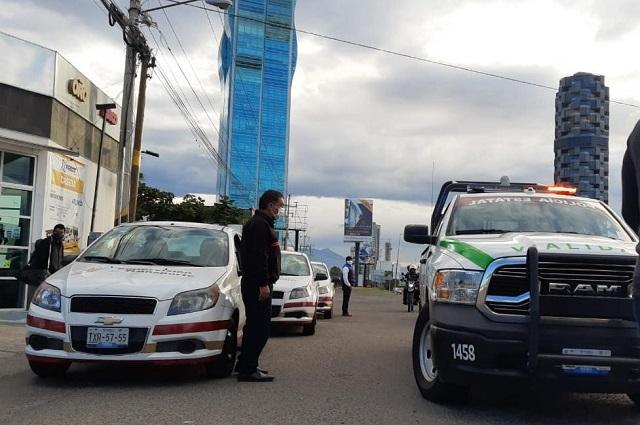 Continúa SMT con operativos de vigilancia en la Vía Atlixcáyotl
