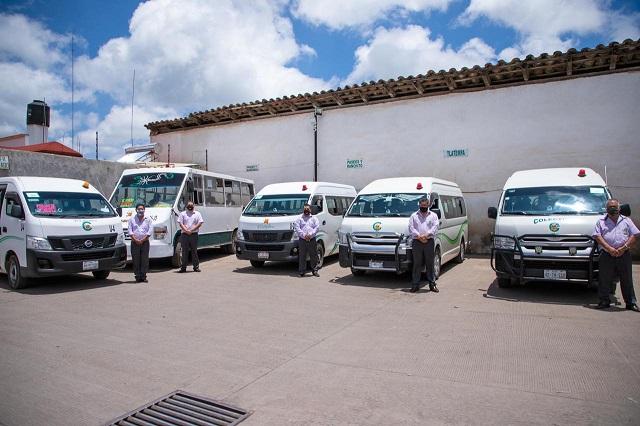 Verifican sanidad en transporte público de Zacatlán