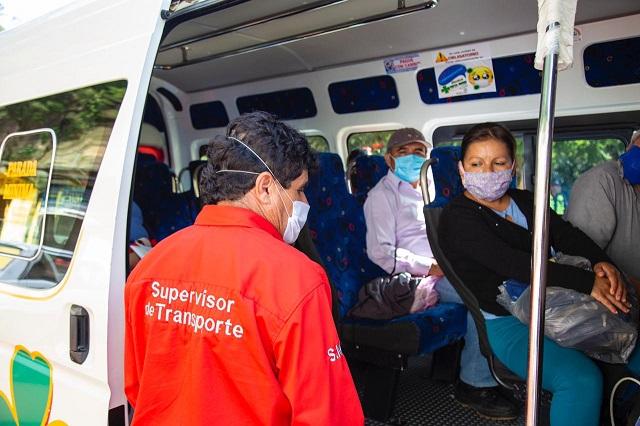Operativo de la SMT en transporte de Zacapoaxtla