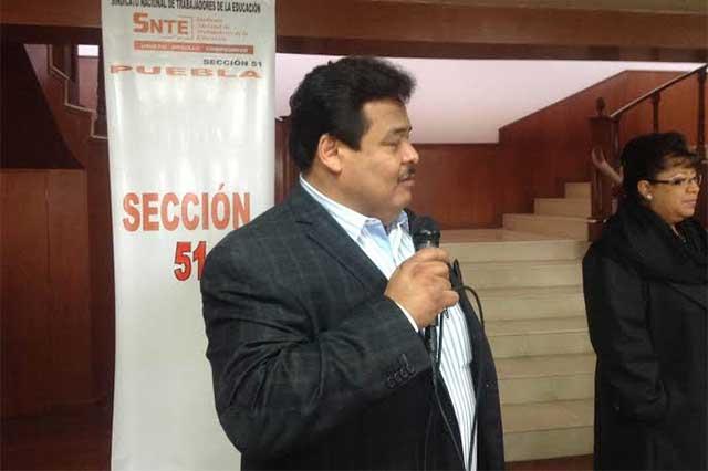 Dice el SNTE que en Puebla no tiene ningún comisionado