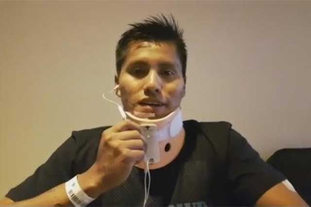 Sobreviviente del avión del Chapecoense agradece en video que lo hayan rescatado