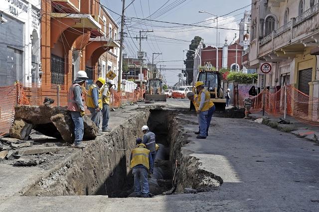Tramo de la 16 de Septiembre será reabierto el sábado: Agua de Puebla
