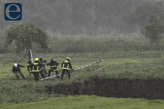 Sobreexplotación de agua produjo el socavón: activistas