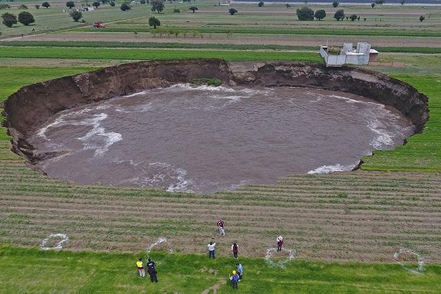 ¿En qué momento dejará de crecer el socavón de Puebla?