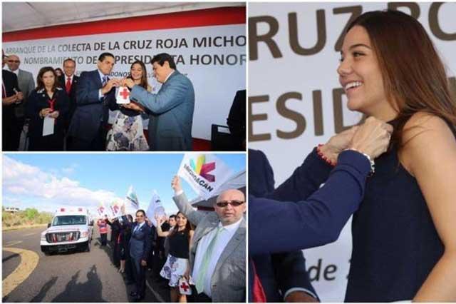 Nombran en Michoacán a hija de Aureoles presidenta de la Cruz Roja