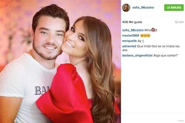 Sofía Castro regresa con su novio, comparte foto y luego la borra