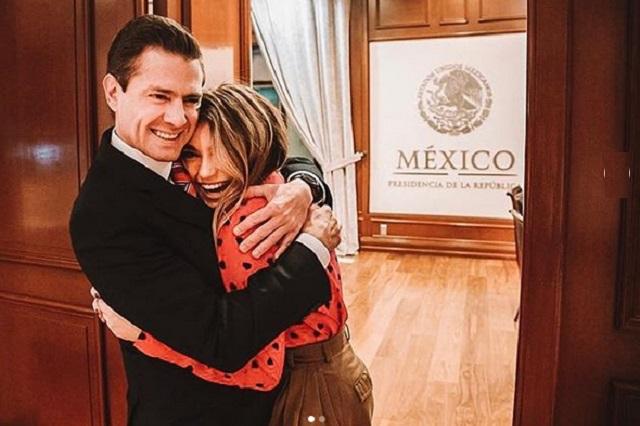 Sofía Castro ve a EPN como su segundo papá y así lo llama