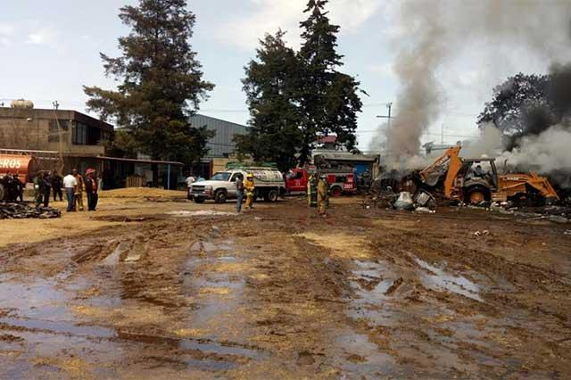 Bomberos sofocan incendio en San Jerónimo Caleras