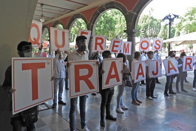 Demanda comercio reabrir el centro de Puebla el 6 de julio