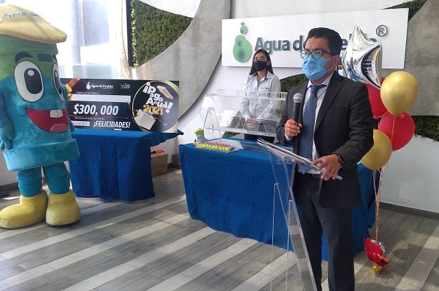 Más de 120 mil usuarios hicieron pago anticipado: Agua de Puebla