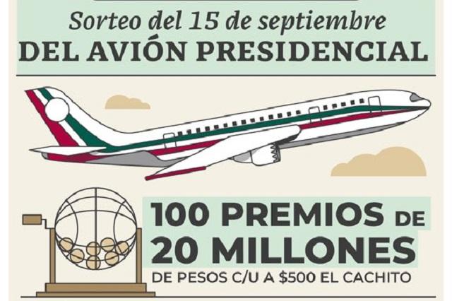 ¿Cuántos boletos del avión presidencial se han vendido?