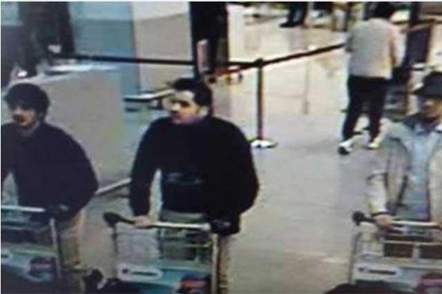 Difunden imagen de sospechosos del atentado en Bruselas