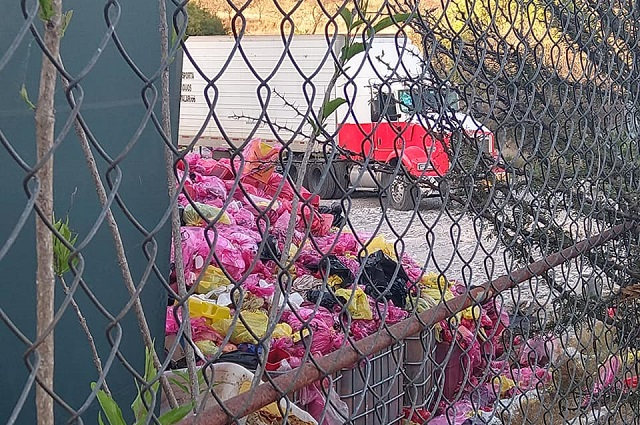 Ven peligro en bodega de residuos infecto contagiosos en  Cuautinchan