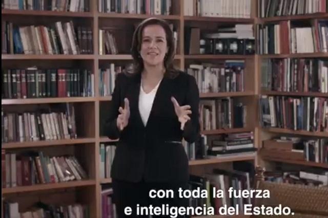 Margarita lanza spot en el que afirma que ella sí enfrentará al crimen organizado