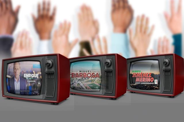 Así se venden los candidatos al gobierno de Puebla en spots de tv