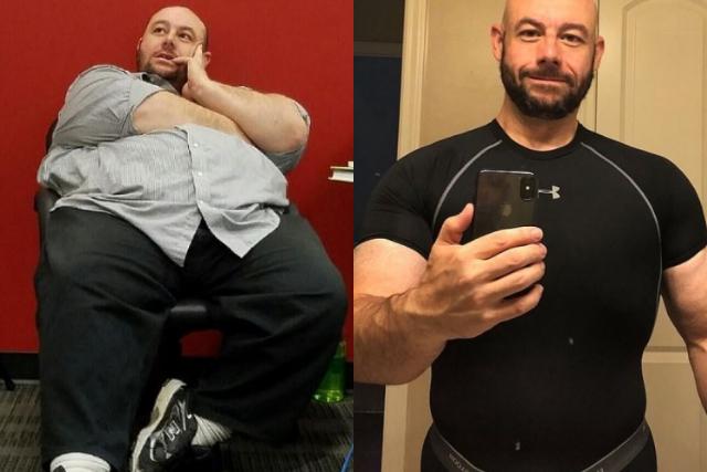 Era demasiado gordo para el sexo, cambio su estilo de vida y perdió 101 kilos