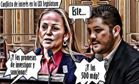 Juan Enrique Rivera, conflicto de interés en la LXI Legislatura