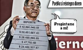 Puebla sí reintegra dinero no ejercido a la Federación