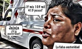 La falsa austeridad de Karina Pérez Popoca