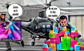 Limpia y despojo en el hangar del gobierno del estado
