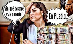 Tragedia presupuestal: Claudia Rivera y sus secretarios no saben gastar