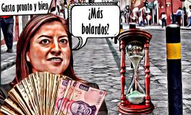 Claudia Rivera:tienequegastar pronto y bien, antes de que el 2021 la alcance