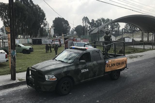 Fuga de gas en subestación Pemex en la Puebla-Tlaxcala