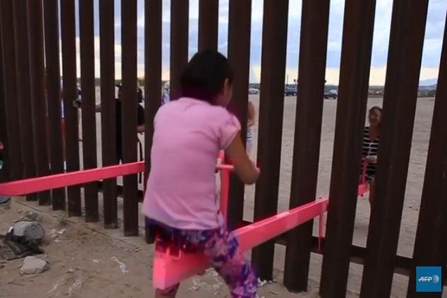 Construyen sube y baja en frontera entre México y EU