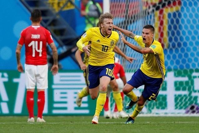 Suecia sigue con paso firme: derrotó a Suiza y avanzo a cuartos de final