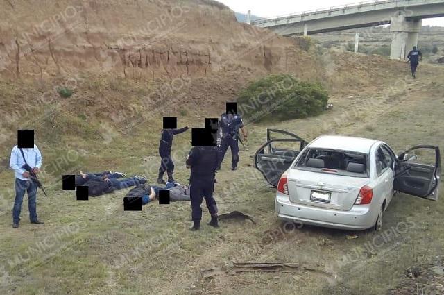 Atrapan a seis tras ejecución en pleno centro de Chignahuapan