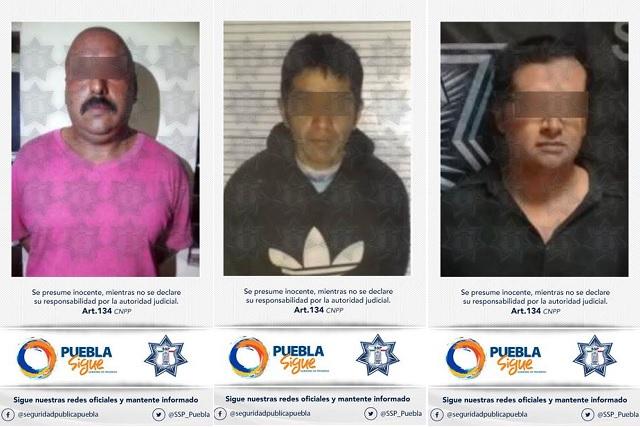 Policía Estatal detuvo a tres hombres por transgredir el orden público