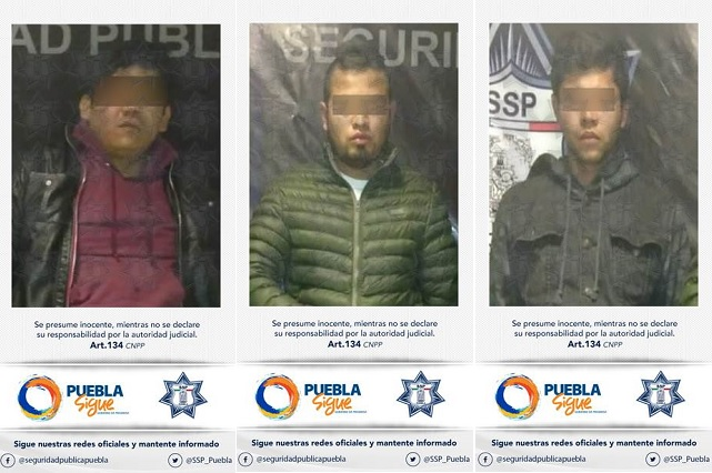 Tres jóvenes ejecutan secuestro exprés en pleno centro de Puebla