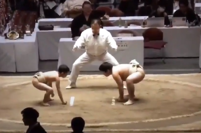 Video viral: pequeño niño vence en sumo a rival más grande